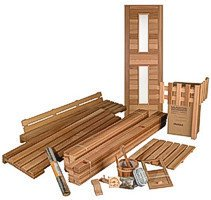 DIY Sauna Kit 4' x 4' - Complete Sauna Room Package - 4 Kw Electric Heater