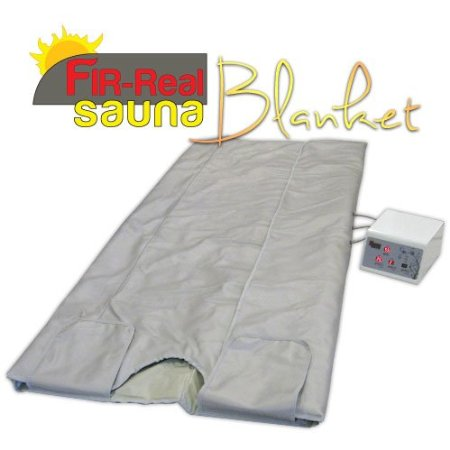 FIR-Real Far Infrared (FIR) Sauna Blanket w/ 3 Zone Digital Controller
