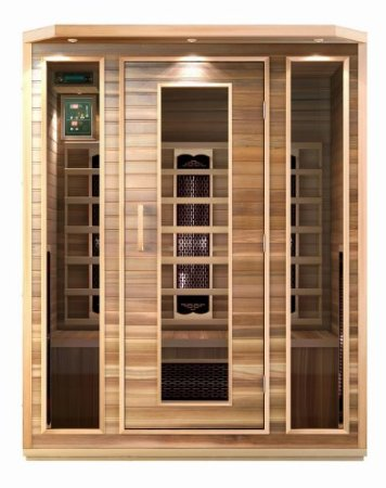 Precision Therapy Cedar 3 Person Ceramic Heater Far Infrared Sauna ETL Approved