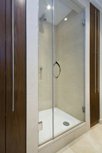 "24""x78"" All Glass Shower Door with Chrome Handles and Hinges"